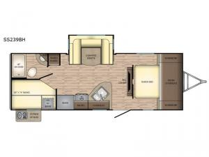 Sunset Trail Super Lite SS239BH Floorplan Image