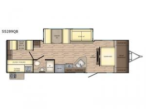 Sunset Trail Super Lite SS289QB Floorplan Image