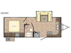 Sunset Trail Super Lite SS210FK Floorplan Image