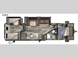 Launch Outfitter 31BHS Floorplan Image