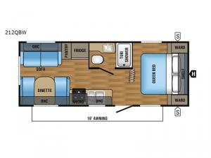 Jay Flight SLX 212QBW Floorplan Image