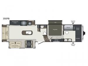 Laredo 350FB Floorplan Image