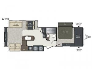 Laredo 334RE Floorplan Image