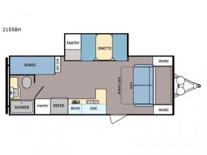 Coleman Light LX 2155BH Floorplan Image