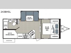 Kodiak Ultra Lite 243BHSL Floorplan Image