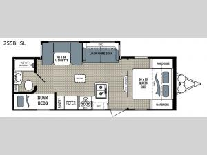 Kodiak Ultra Lite 255BHSL Floorplan Image