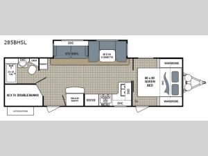 Kodiak Ultra Lite 285BHSL Floorplan Image