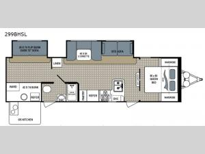 Kodiak Ultra Lite 299BHSL Floorplan Image