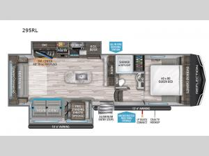 Reflection 150 Series 295RL Floorplan Image