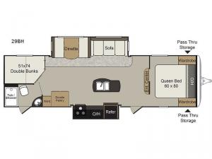 Passport Elite 29BH Floorplan Image