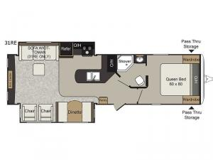 Passport Elite 31RE Floorplan Image