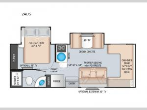 Four Winds Sprinter 24DS Floorplan Image