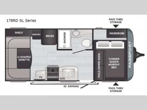 Passport 178RD SL Series Floorplan Image