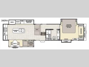Cedar Creek Champagne Edition 38ERK Floorplan Image