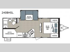 Kodiak Ultimate 240BHSL Floorplan Image