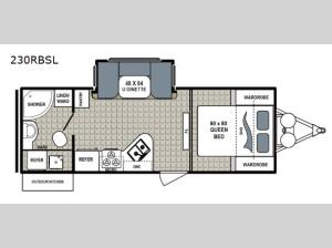 Kodiak Ultimate 230RBSL Floorplan Image