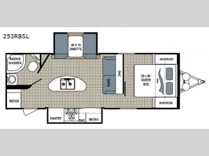 Kodiak Ultra-Lite 253RBSL Floorplan Image