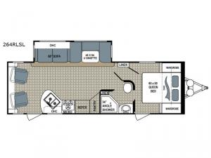 Kodiak Ultra-Lite 264RLSL Floorplan Image