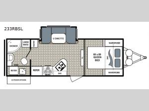 Kodiak Ultra-Lite 233RBSL Floorplan Image