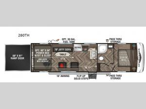 Sportster 280TH Floorplan Image