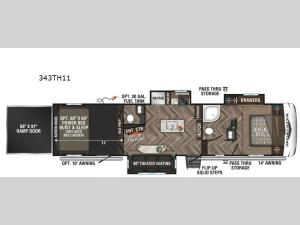 Sportster 343TH11 Floorplan Image