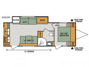 Spree S261RK Floorplan Image