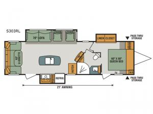 Spree S303RL Floorplan Image