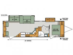 Spree S322RL Floorplan Image
