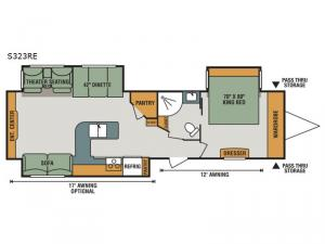 Spree S323RE Floorplan Image