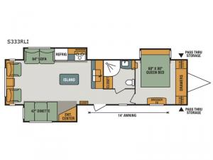 Spree S333RLI Floorplan Image