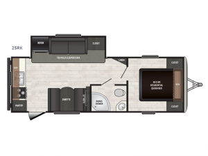 Sprinter Campfire Edition 25RK Floorplan Image