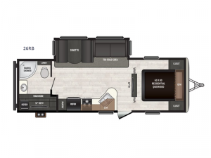 Sprinter Campfire Edition 26RB Floorplan Image