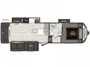 Sprinter Campfire Edition 29FWRL Floorplan Image
