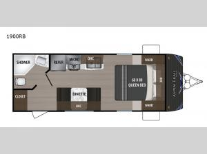 Aspen Trail 1900RB Floorplan Image