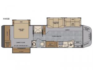Renegade XL X40SB Floorplan Image