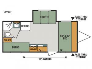 Escape E191BH Floorplan Image