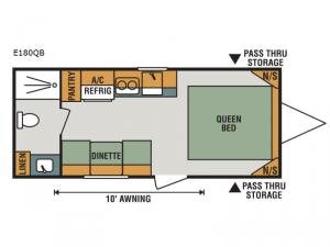 Escape E180QB Floorplan Image