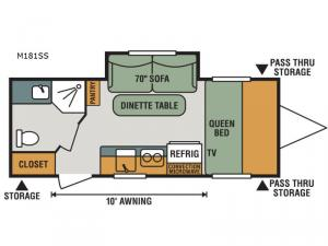 Escape Mini M181SS Floorplan Image