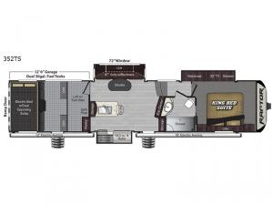 Raptor 352TS Floorplan Image