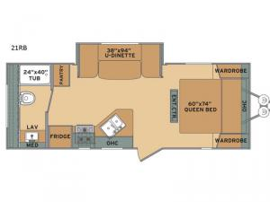 Oasis 21RB Floorplan Image