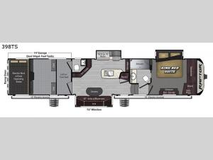 Raptor 398TS Floorplan Image