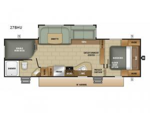 Launch Ultra Lite 27BHU Floorplan Image
