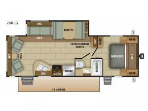 Launch Ultra Lite 26RLS Floorplan Image