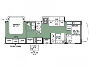 Forester 2861DS Ford Floorplan Image