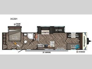 Sportsmen Destination 362BH Floorplan Image