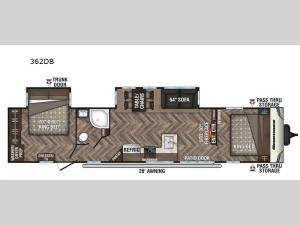 Sportsmen Destination 362DB Floorplan Image