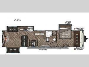 Sportsmen Destination 363RL Floorplan Image