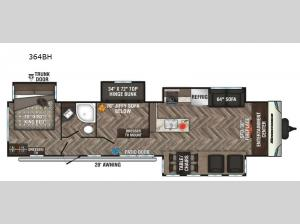 Sportsmen Destination 364BH Floorplan Image