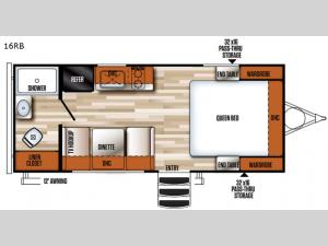 Vibe 16RB Floorplan Image