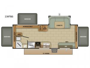 Launch Outfitter 239TBS Floorplan Image